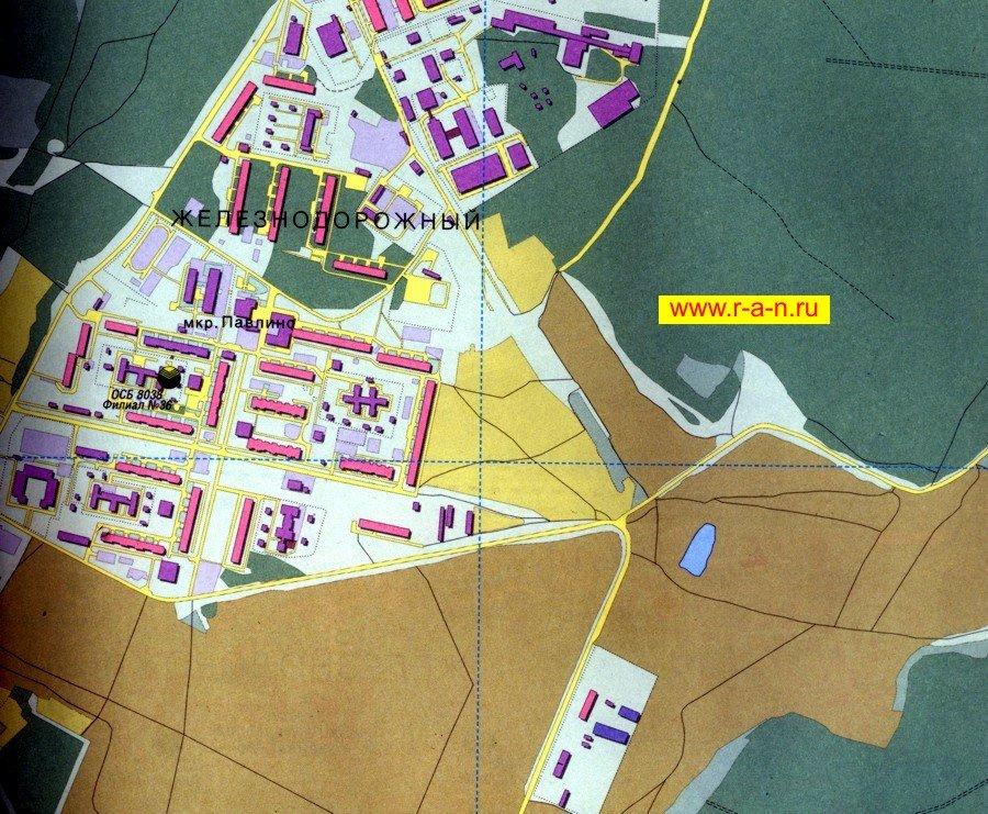 Карта город Железнодорожный