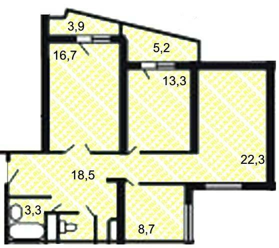Планировка квартир в домах и 155 схема планировки секции в доме серии и 155 мк Ремонт квартир и 155 ремонт в 1 ремонт...